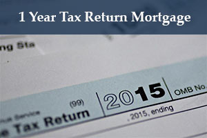 Self-employed mortgage 1 year taxes